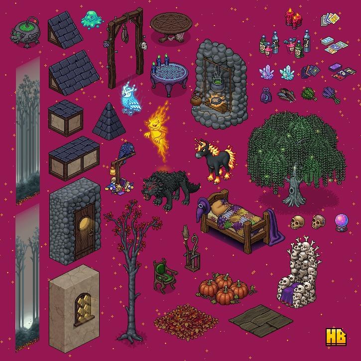 Habbo Halloween.Habbobites Habbo October 2019